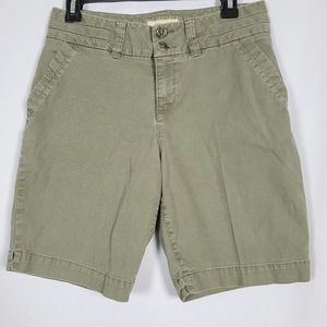 Sonoma Original Fit Mid Rise Olive Walking Short 6